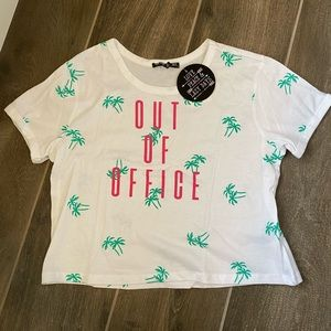 'Out of Office' cropped tee